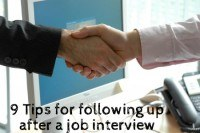 After the Job Interview: 9 Tips for Following Up